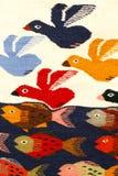 Het kleurrijke tapijt hangen op de markt in Mexico Royalty-vrije Stock Fotografie