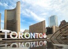 Het kleurrijke teken van Toronto in Toronto, Canada Royalty-vrije Stock Afbeelding