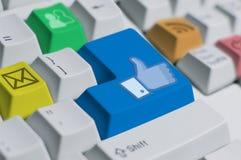 (Het kleurrijke) Toetsenbord van IT Stock Afbeeldingen