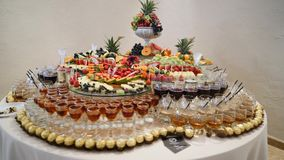 Het kleurrijke Tropische Buffet van het Fruithuwelijk Royalty-vrije Stock Afbeelding