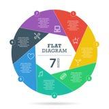 Het kleurrijke van de het diagramgrafiek van de raadselpresentatie infographic vector grafische malplaatje met verklarend die tek Royalty-vrije Stock Afbeelding