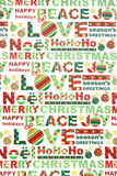 Het kleurrijke Verpakkende Document van Kerstmis stock foto's
