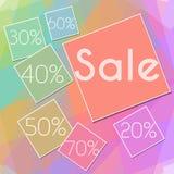 Het kleurrijke Vierkant van de Vierkantenverkoop Stock Fotografie