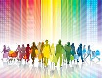 Het kleurrijke winkelen Stock Afbeelding