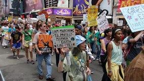 Het Klimaat 36 van mensen Maart stock foto