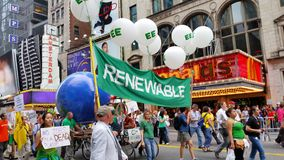 Het Klimaat 497 van mensen Maart stock afbeelding