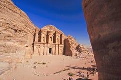 Het klooster (advertentie-Deir). Petra, Jordanië Stock Fotografie