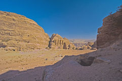 Het klooster (advertentie-Deir). Petra, Jordanië Stock Foto