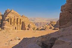 Het klooster (advertentie-Deir). Petra, Jordanië Royalty-vrije Stock Fotografie