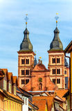 Het klooster in barokke stad Amorbach, Beieren, Duitsland Royalty-vrije Stock Foto's