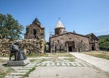 Het klooster complexe Goshavank Royalty-vrije Stock Foto
