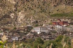 Het klooster in Marpha-dorp op Annapurna-Kringstrek, N royalty-vrije stock fotografie