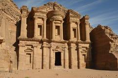Het Klooster, Petra Royalty-vrije Stock Foto's