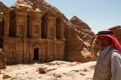 Het Klooster, Petra Stock Afbeelding