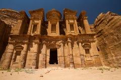 Het Klooster, Petra Stock Afbeeldingen