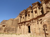 Het Klooster in Petra Jordan Royalty-vrije Stock Fotografie