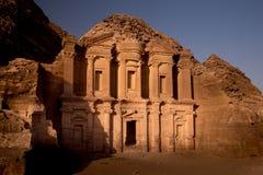 Het Klooster in Petra, Jordanië Royalty-vrije Stock Afbeelding