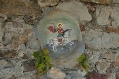 Het Klooster St. George van Glozhene - 13 eeuw, Bulgarije Stock Foto
