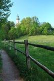 Het Klooster van Andechs op een Heuvel, Ammersee Stock Fotografie