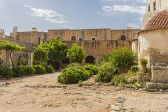 Het klooster van Arkadi kreta stock afbeelding