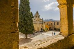 Het klooster van Arkadi kreta royalty-vrije stock foto