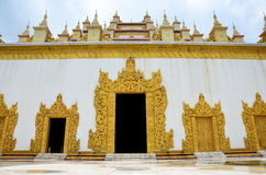 Het Klooster van Atumashikyaung in Mandalay, Myanmar (Birma) Stock Afbeeldingen