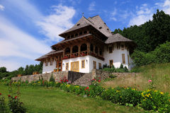 Het klooster van Barsana Stock Foto's