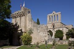 Het Klooster van Bellapais - Turks Cyprus Stock Foto's