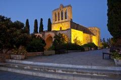 Het Klooster van Bellapais - Turks Cyprus stock afbeelding