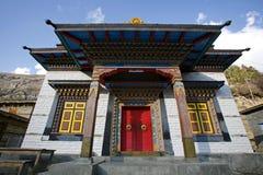 Het klooster van Buddist, annapurna stock afbeelding