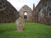 Het Klooster van Bunamargy, Co. Antrim stock afbeelding