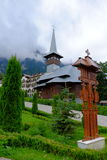Het klooster van Caraiman Stock Foto