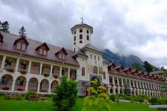 Het klooster van Caraiman Stock Foto's