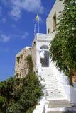 Het klooster van Chrisoskalistissa in Kreta, Griekenland Stock Foto