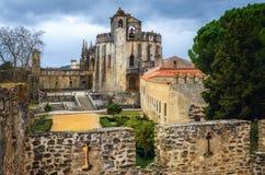 Het klooster van Christus, oud templar bolwerk en klooster in Tomar, Portugal royalty-vrije stock fotografie