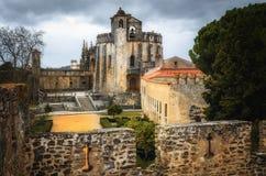 Het klooster van Christus, oud templar bolwerk en klooster in Tomar, Portugal royalty-vrije stock afbeeldingen
