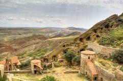Het klooster van David Gareja Stock Afbeeldingen