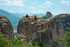Het Klooster van de Heilige Drievuldigheid, Meteora, Griekenland Stock Afbeeldingen