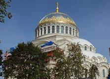 Het Klooster van de Tikhvinveronderstelling, Russische Orthodox, Tihvin, het gebied van Heilige Petersburg, Rusland stock foto's