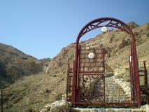 Het klooster van Deir brengt Musa al-Habashi Nebek, Syrië in de war Royalty-vrije Stock Afbeeldingen