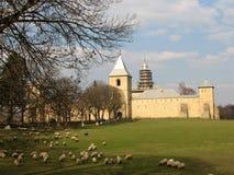 Het klooster van Dragomirna stock afbeelding
