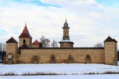 Het Klooster van Dragomirna stock afbeeldingen