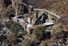 Het klooster van Geghard Stock Foto