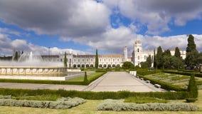 Het Klooster van Geronimos - XV eeuw. Lissabon Portugal Stock Afbeelding
