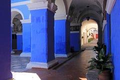 Het klooster van Heilige Catherine, Santa Catalina, Arequipa, Peru Stock Foto's