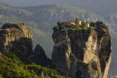 Het klooster van Heilige Drievuldigheid - Meteora, Griekenland. royalty-vrije stock afbeeldingen