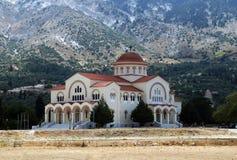 Het klooster van heilige Gerasimos, Kefalonia Stock Fotografie