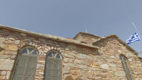 Het klooster van heilige Panteleimon, de belangrijkste kerk, zet Athos, Griekenland op stock footage