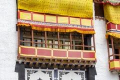 Het Klooster van Hemisgompa, in de Himalyan-uitlopers dichtbij Leh, Ladakh, noordelijk van India Stock Afbeelding