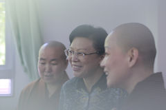 Het klooster van het bezoekzizhulin van Mej.leichunmei in amoy stad, China Stock Foto's